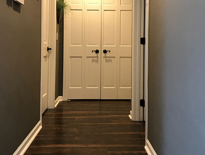 "Older/Outdated homes have brown trim, doors, and more. Consider painting the trim! Yes, there are wood lovers out there and yes, some wood trim — REAL wood — may be an option to the ""let's not paint it"" scenario; however, sometimes it makes a world of difference turning a house into a home by painting the trim, if it's the right color and/or process!"